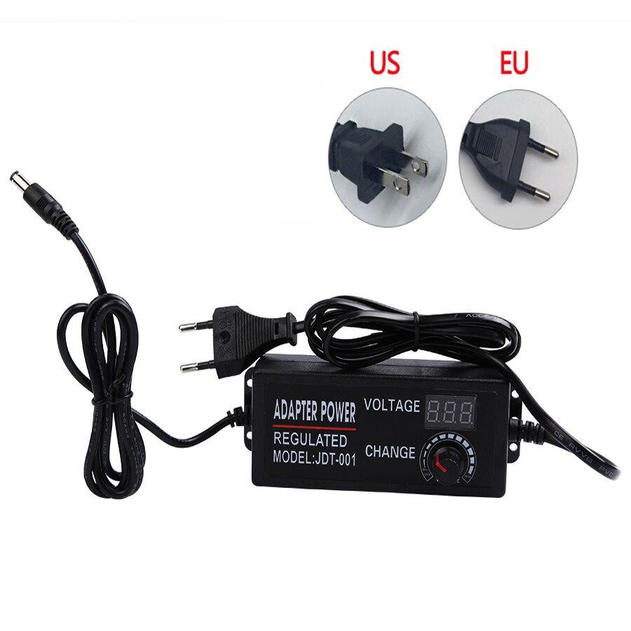 Adaptador AC DC convertidor de fuente de alimentación ajustable 220V a 12V 3V 9V 5A adaptador de corriente ajustable para lámpara LED EU US