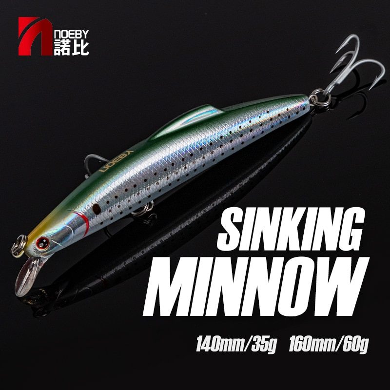 NOEBY Trolling Minnow Fishing Lures 140mm 35g Sinking Wobblers Artificial Hard Bait Fishing Tackle for Saltwater Fishing Lure недорого