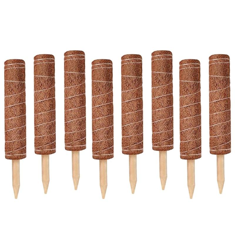 8 قطعة البستنة مصنع دعم ربط جوز الهند الطوطم القطب فاينز تسلق مصنع دعم الرهانات موصل أدوات زراعة