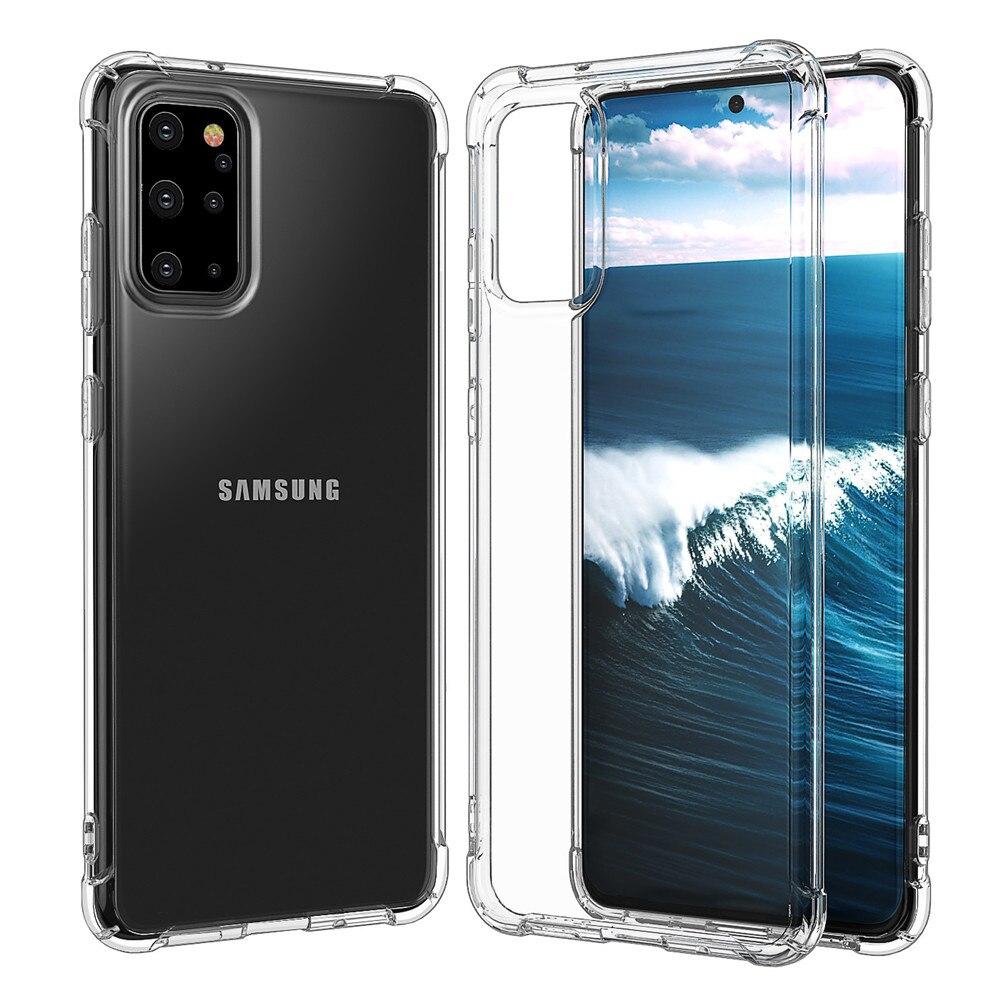 Claro TPU caso para Samsung Galaxy A50 A30 A10 A20 A4 A70 A80 A90 A71 esquina a prueba de golpes a prueba cubierta M10 M20 M40 M40 A51 caso Capa