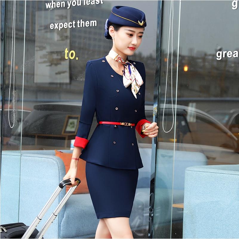Sombrero chaqueta pantalones cosmetólogo belleza salón ropa de trabajo primavera profesional femenino traje azafata Vestido Mujer trabajo uniforme