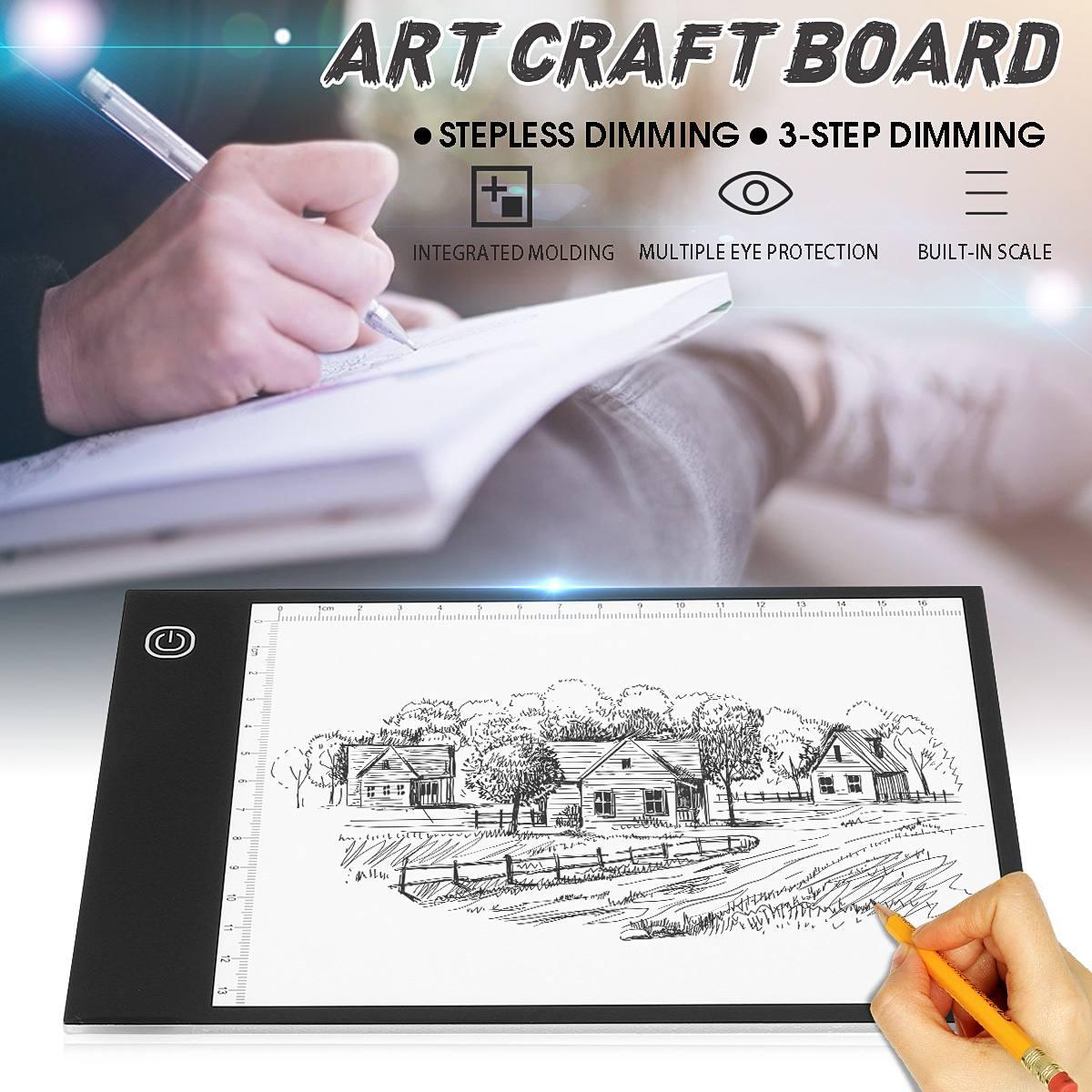 Digitale Tablet A5 LED Licht Box Tracing Kunst Bord Handwerk Zeichnung Kopie Pad Tabelle Schablone Display Elektronik Schreiben Tablet 2 typ