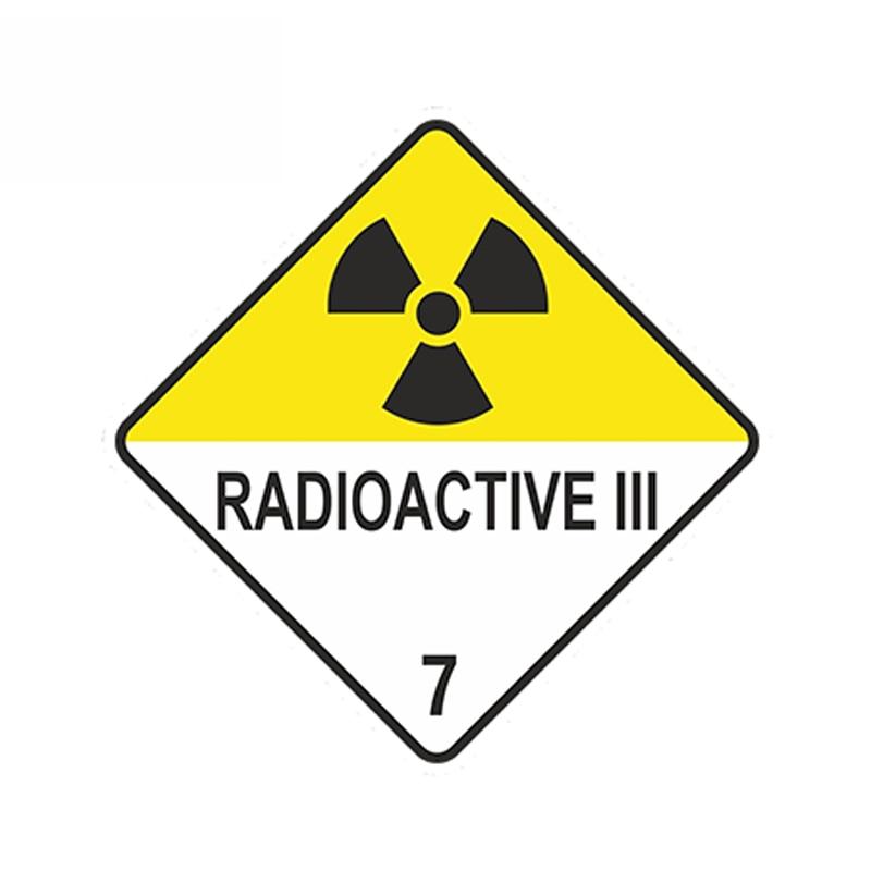 SZWL Radioactive Iii Warning Car Sticker Atomic Nuclear Radiation Waterproof Decal Automobile Doors