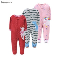 Brand orangemom official store baby romper cartoon jumpsuits cotton newborn baby girl clothes Pajama
