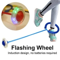 children glowing bouncing balls one foot flashing jumping rope ball colorful ankle skip ball fitness sports swing ball toys