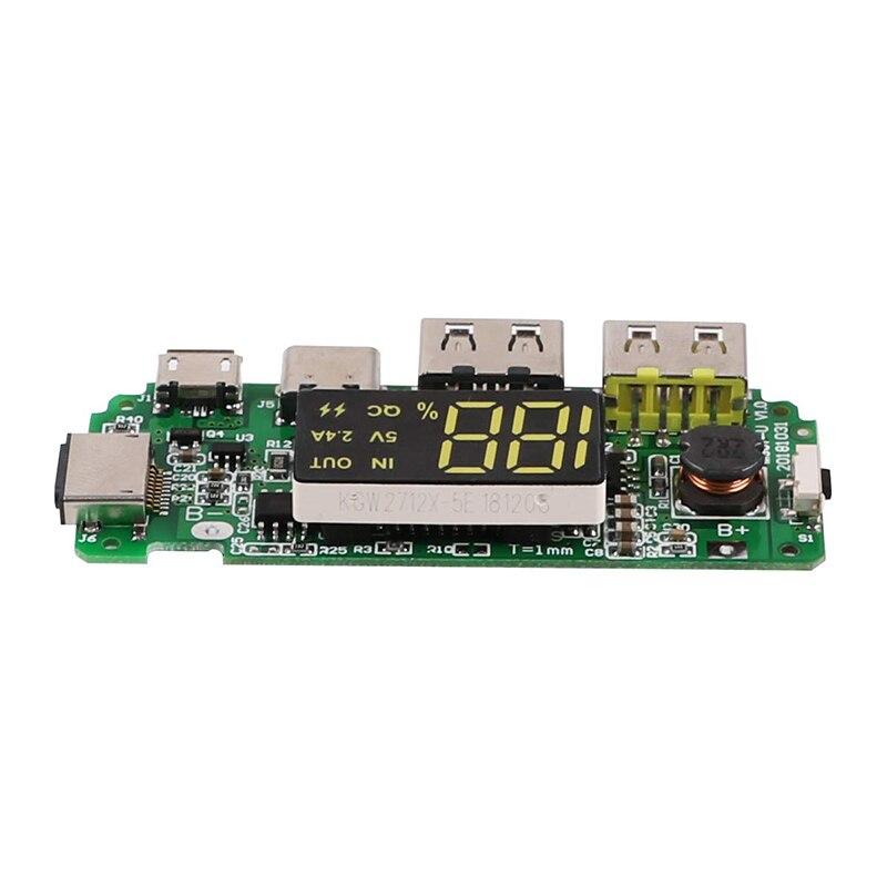 LED Display Tela USB Tipo Micro-C Poder Banco de Energia Móvel 18650 Carregador de Sobre-Descarga Sobrecarga proteção contra Curto Circuito proteção
