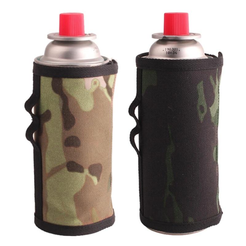 6,5x9,9 cm tapa de bote de Gas Protector depósito de combustible bolsa de almacenamiento Camping senderismo cilindro de Gas Accesorios para tanque