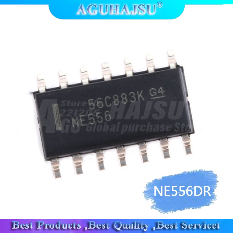 10 pces novo ne556 ne556dr ne556dt remendo sop14 temporizador/chip de canal duplo