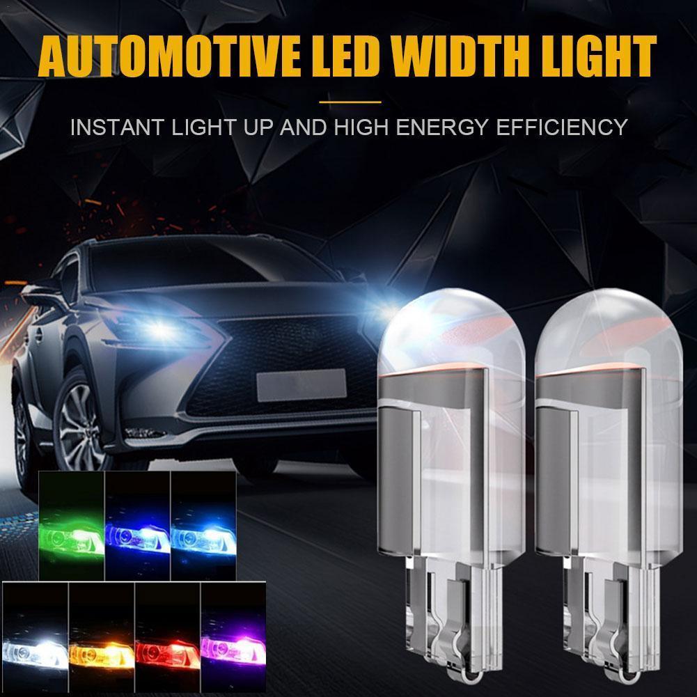 T10 LED Bulb Car Light Width Indicator Light COB Car Bulb Modification Accessories Glass Full Transparent License Plate Light