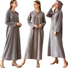 Ramadan luxe strass Abaya longue Robe femmes à capuche Maxi Robe dubaï islamique arabe Jilbab Eid caftan fête moyen-orient