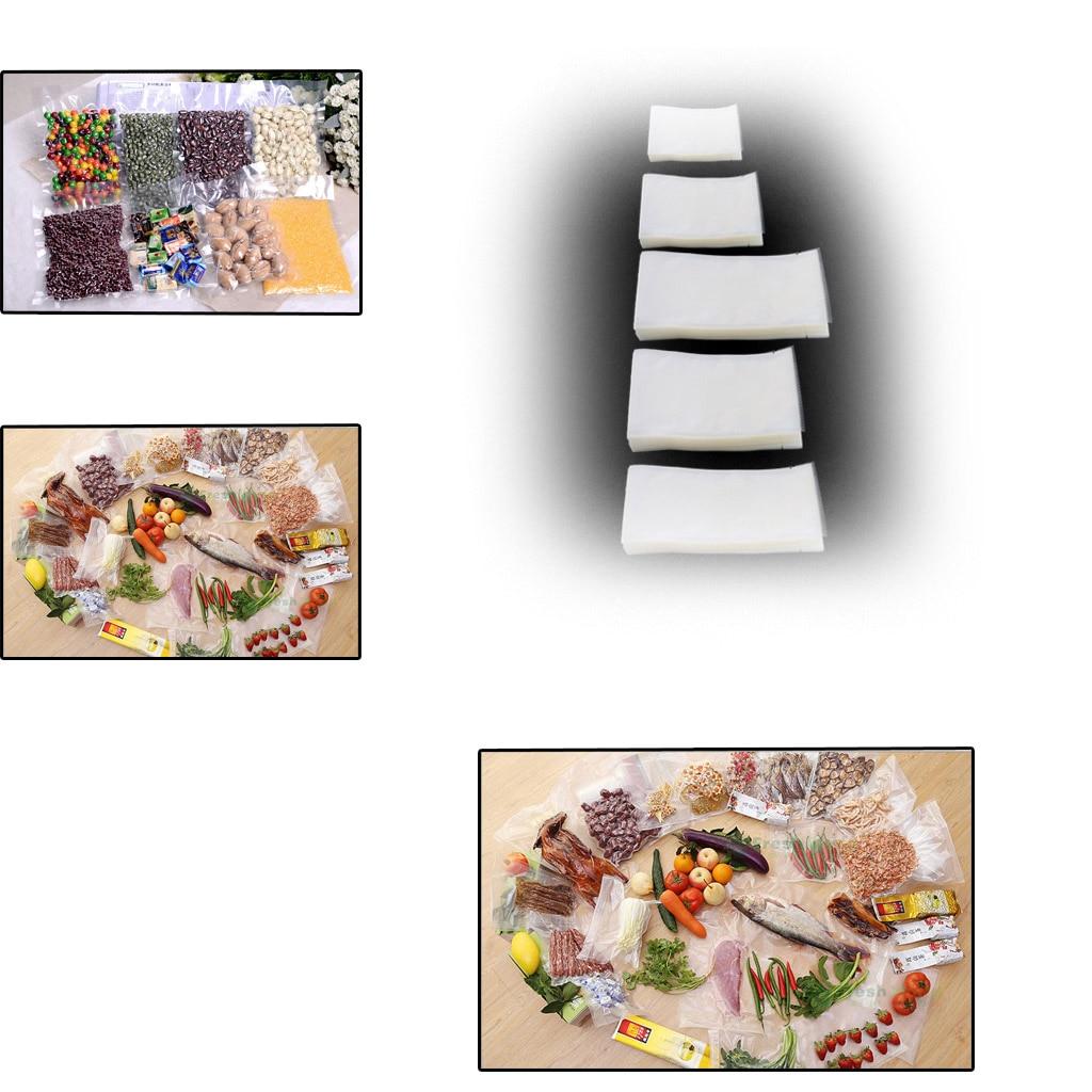 100Pcs Food Vacuum Bag Storage Sealer Space Packing Commercial Food Saver 5 Size U1JE
