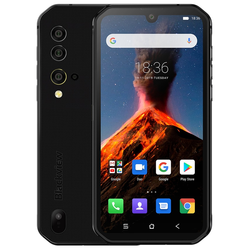 Blackview BV9900 NFC 8GB RAM 256GB ROM Helio P90 Octa Core 4G Rugged Smartphone 4380mAh Android 9.0 IP68 Waterproof Mobile Phone