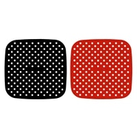 kitchen tools gadgets cookware reusable air fryer lining non slip silicone pad air fryer supplies square air fryer accessories