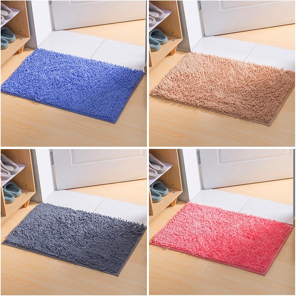 C B caja 40*60CM suave peludo pulgadas antideslizante microfibra Shag baño tapetes alfombras de baño ducha alfombra