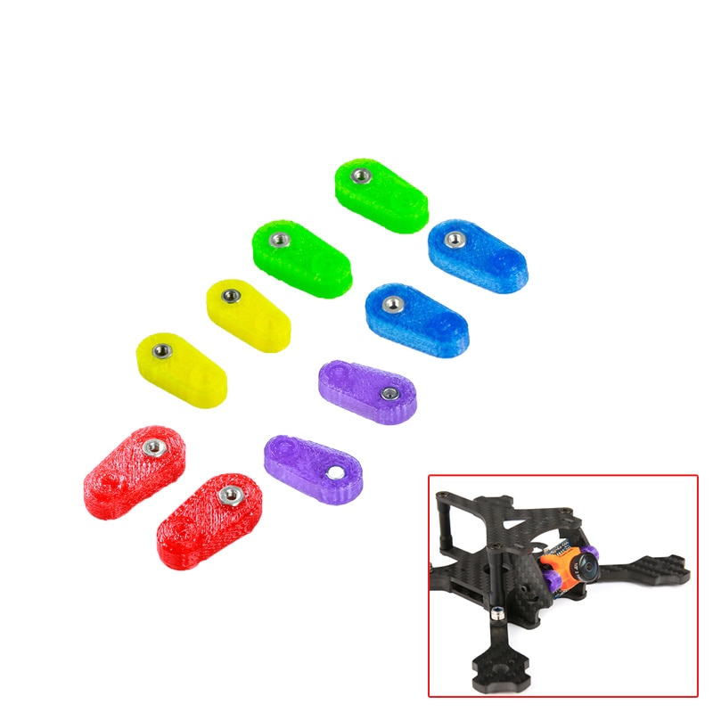 4 Uds IFlight impresión 3D TPU soporte de montaje fijo de cámara para Runcam Micro Swift FPV Iflight Ix5 V2/ Xl5/ix3 V2 marco