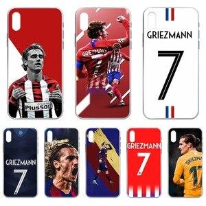 football Griezmann Spain pretty funda Transparent Phone Case For iphone 4 4S 5 5C 5S 6 6S PLUS 7 8 X XR XS 11 PRO SE 2020 MAX