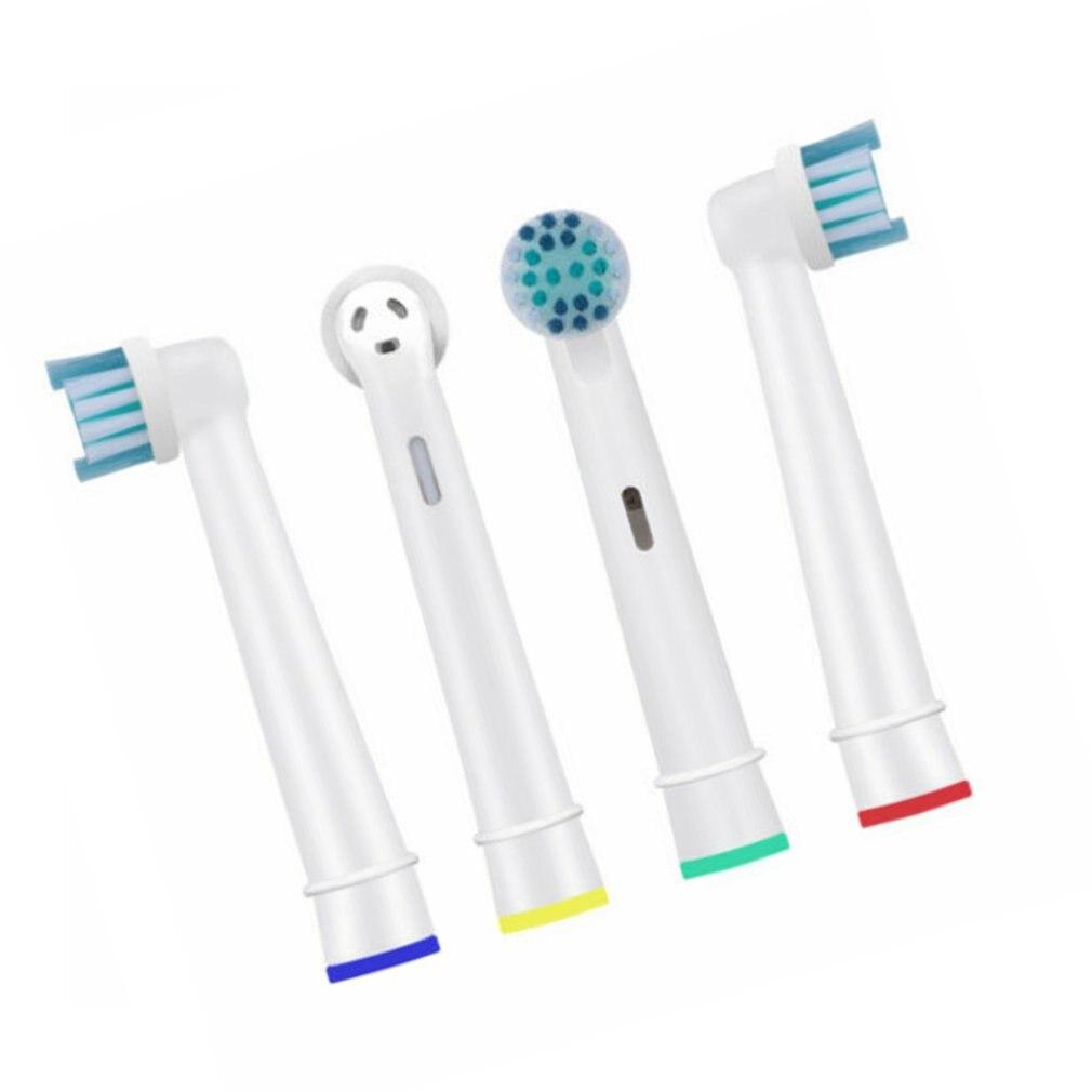 4 шт./компл. мягкие сменные головки для зубной щетки, сменные насадки для электрической зубной щетки, щетинки Dupont для Braun, Oral B