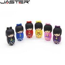 JASTER The kimono doll USB flash drive USB 2.0 Pen Drive minions Memory stick pendrive 4GB 8GB 16GB 32GB 64GB 128GB gift