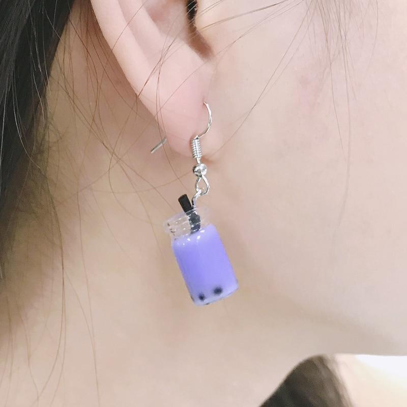 2021 New Arrivals Handmade Pearl Milk Tea Coffee Cup Earrings for Korean Minimalist Women Gift Earri