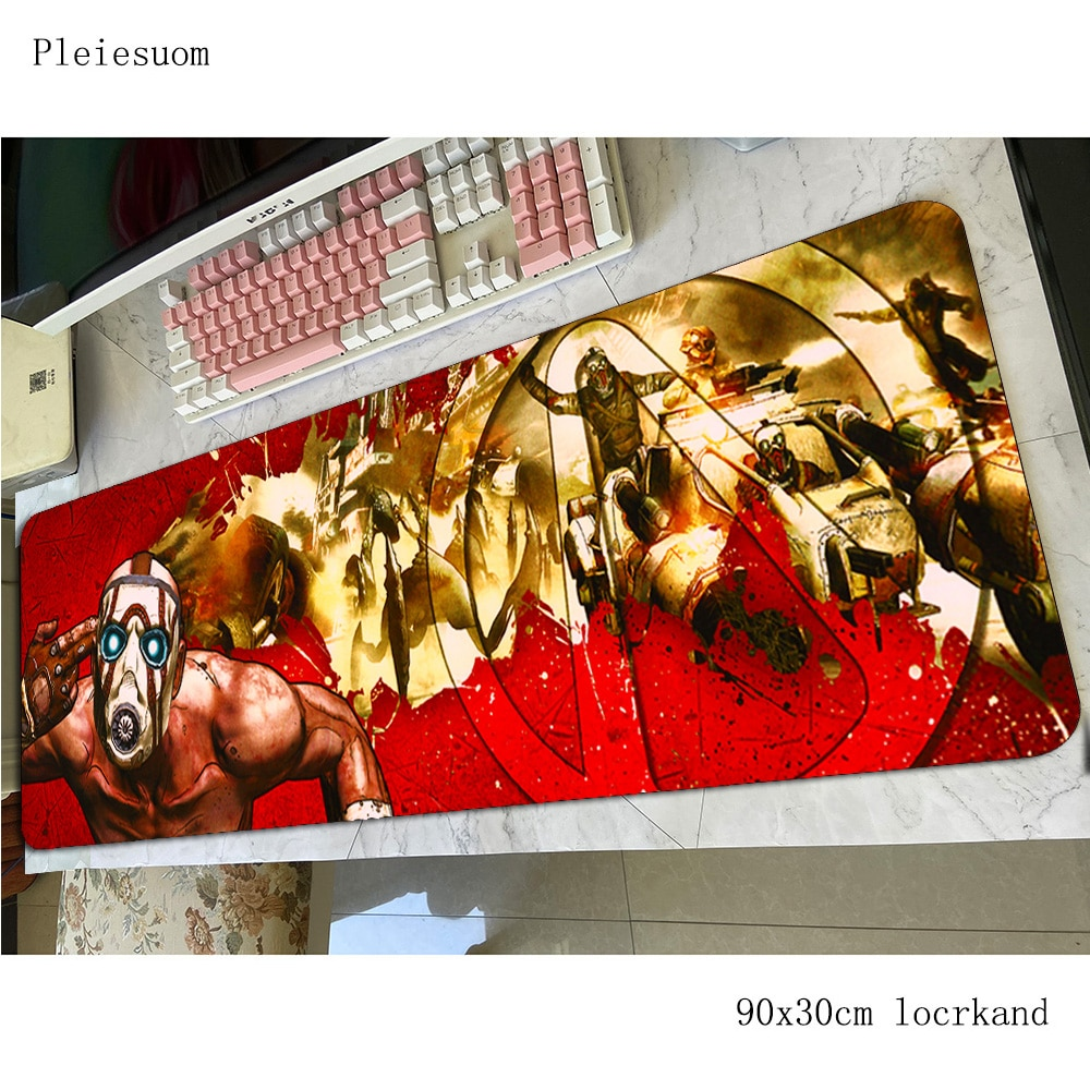 Alfombrilla para ratón de borderlands 800x300x4mm alfombrillas coloridas alfombrilla de ratón de ordenador Accesorios de juego Xxl alfombrilla de ratón grande teclado juego pc gamer