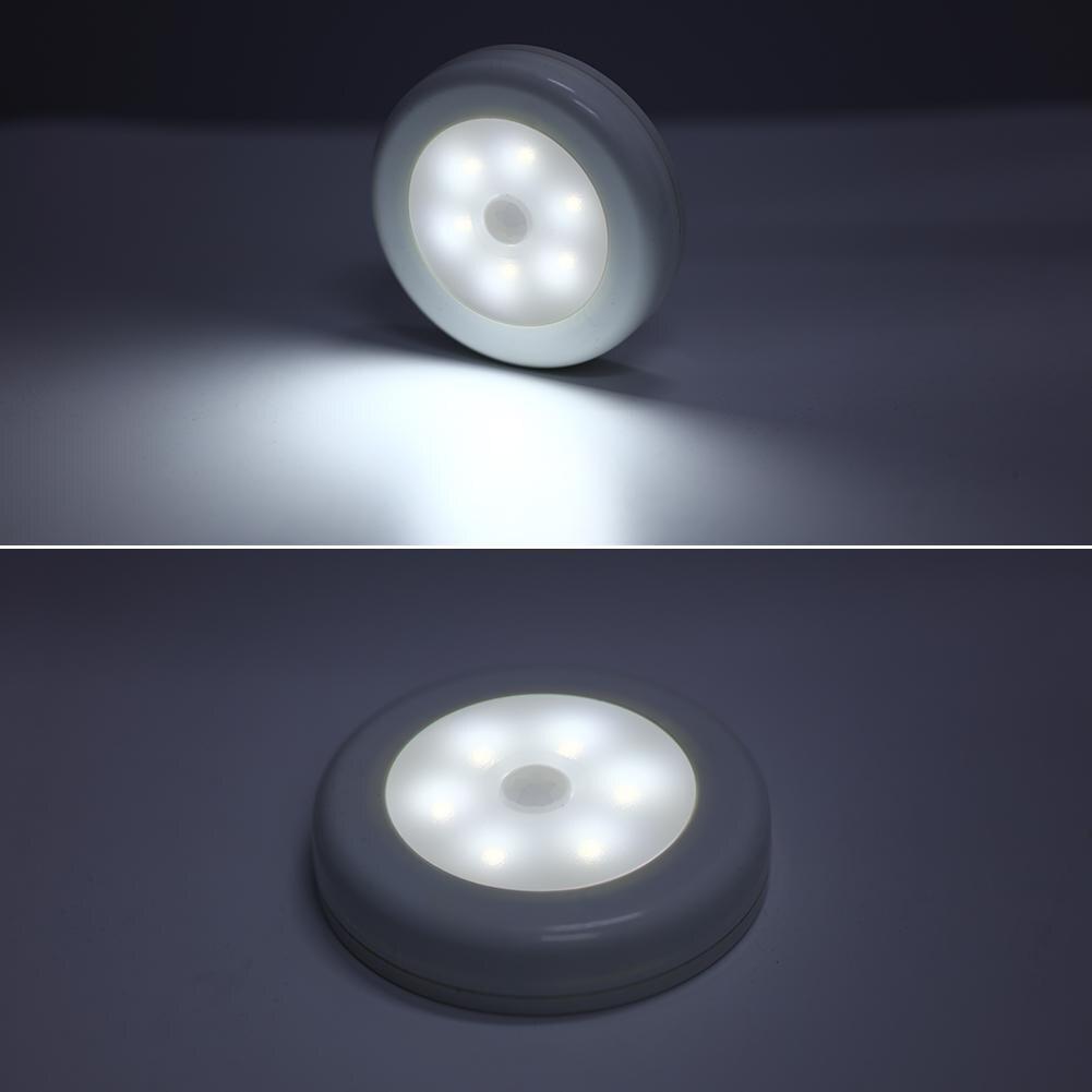 6 светодиодов датчик движения приклеивается в любом месте светильник шкафа
