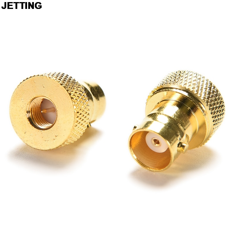 1pcs n bnc adapter n type plug male to bnc jack female straight rf coaxial connector adapter Adapter SMA Male Plug To BNC Female Jack RF Connector Straight Gold Drop Shipping