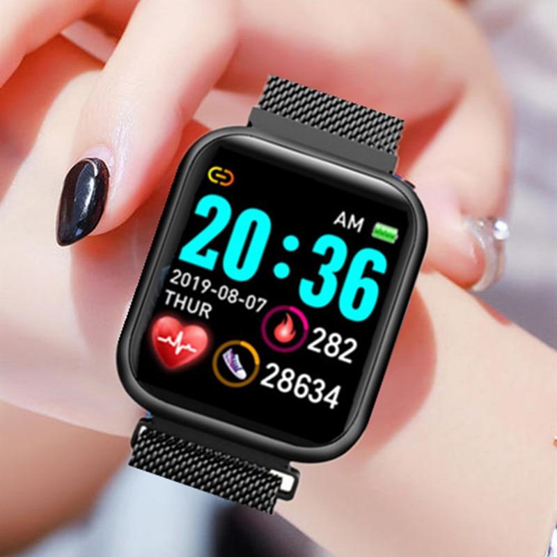 Fashion Smart Watch 2020 Women Men Electronics Sport Wrist Watch For Android IOS Square Smartwatch Smart Clock Hours