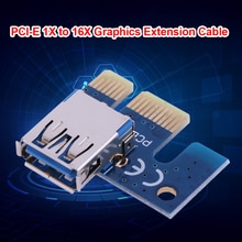 Universal PCIe X1 Adapter PCI E 1X to USB 3.0 Female for PCI Express Riser Mining Graphics Card Blue
