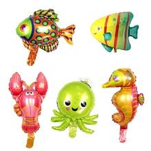 Chicinlife Ocean Fish Foil Balloons Birthday Party Decorations Baby Shower Shark Fish Helium Ballloon Ocean Theme Ballons