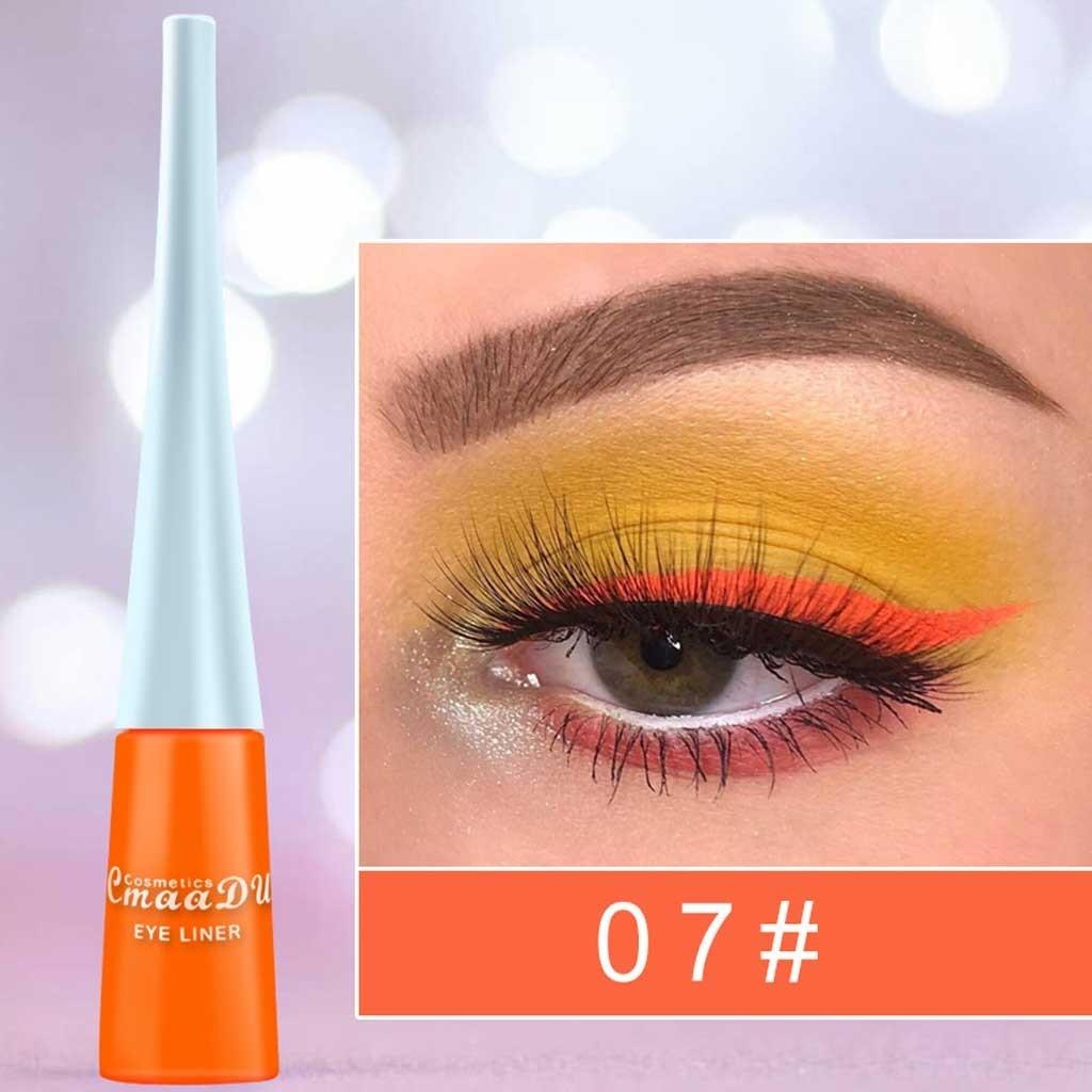 Colorido mate delineador de ojos de larga duración blanco delineador de ojos maquiagem Profissional completa delineador líquido para ojos cosméticos h3