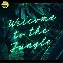 Enseigne au néon pour bienvenue à la Jungle néon ampoule signe artisanat cadeaux néon enseigne appliques anuncio luminos Restraunt taver