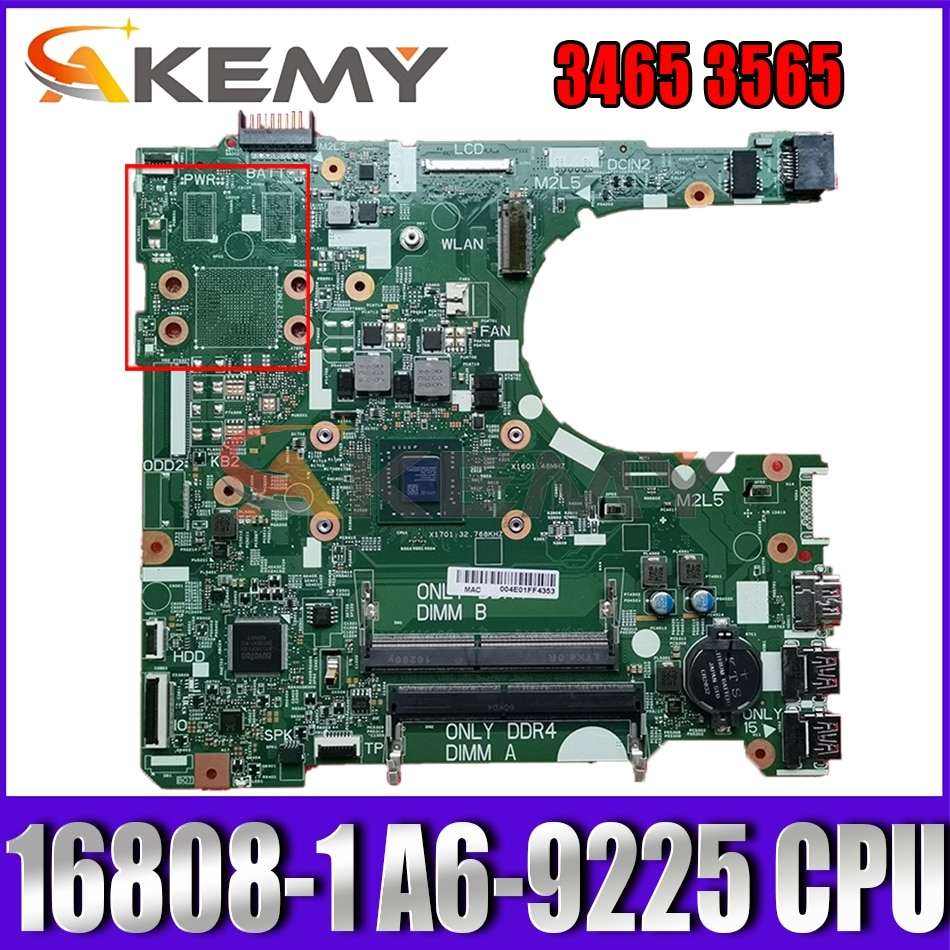 Akemy جديد A6-9200 لديل انسبايرون 3465 3565 اللوحة 16808-1 395RH CN-0NV2JC NV2JC اللوحة 100% اختبار