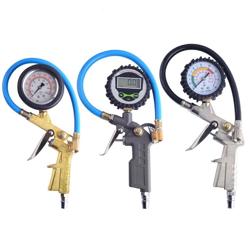 Tire Air Pressure Inflator Gauge Digital Dial Inflated Pumps Deflated Car Repair Tools for Motorcycle Vehicle Inflation Gun