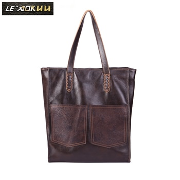 Classic Genuine Leather Famous Brand Luxury Ladies Large Shopper handbag Shoulder bag Women Designer Female Vintage Tote bag 121