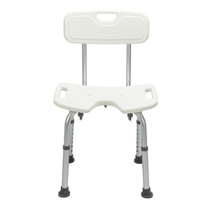 Bath Chair Bathroom stool Hygienic Shower Seat Adjustable Bath Seat, Slip Resistant Shower Chair With Removable Back Rest White
