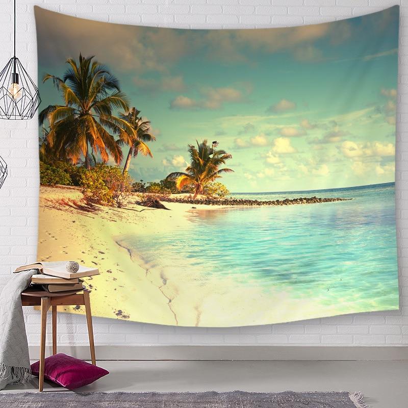 Yaapeet 1 шт. полиэстер тропические настенные гобелены пляжные настенные подвесные гобелены для спальни красивые украшения для дома