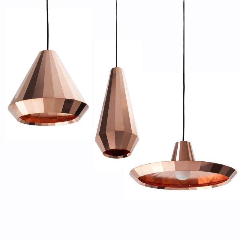 الشمال الحديثة مصمم ارتفع الذهب الزجاج قلادة ضوء مصباح معلق ل قاعة Loft الديكور غرفة المطبخ غرفة الطعام غرفة المعيشة