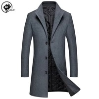 little raindrop mens overcoat thick england style jacket m 4xl self cultivation leisure lapel trench long winter coat men