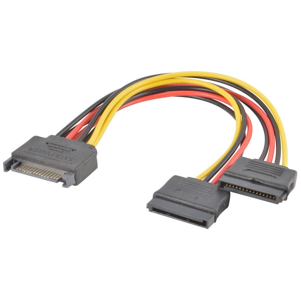 De alimentación SATA 15 pin-Y-Adaptador de Cable divisor macho a hembra para...