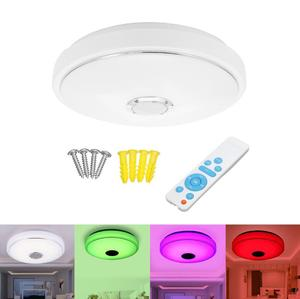 36W 6500K RGB LED Ceiling Lights Modern Music Lamp Living Room Bedroom Kitchen Lighting Fixture Surface Mount Remote Control