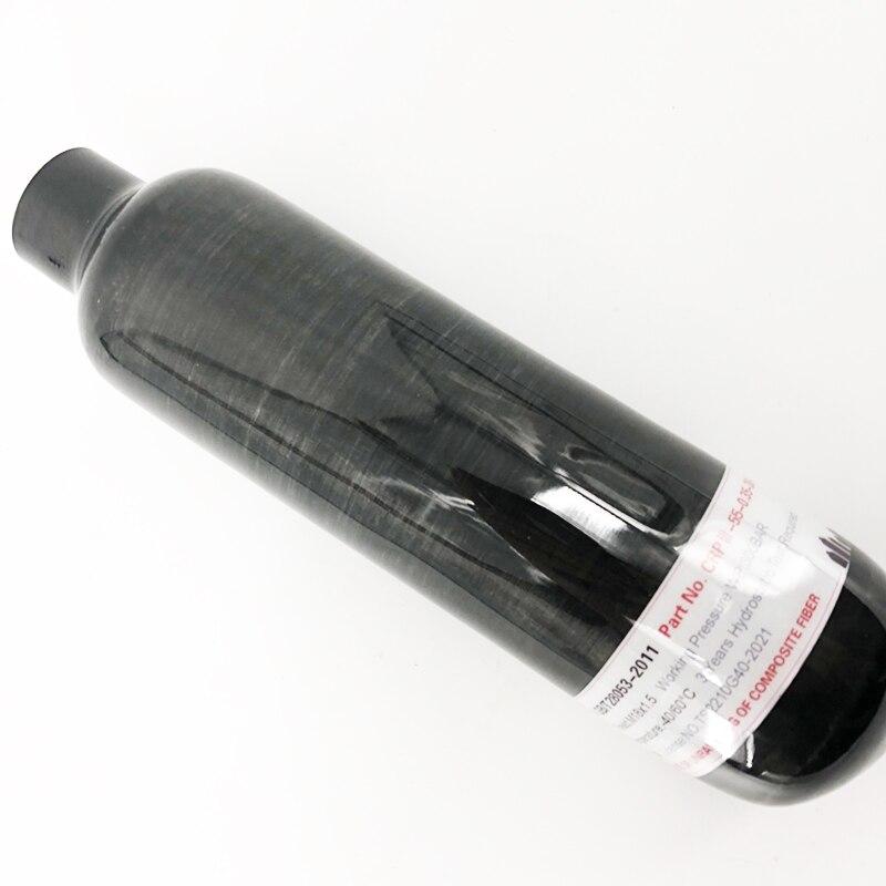 Cilindro de tanque de aire SCBA de fibra de carbono AC3035 350cc 0.35L para pistola de aire PCP 4500 psi, Paintball relleno por compresor Acecare
