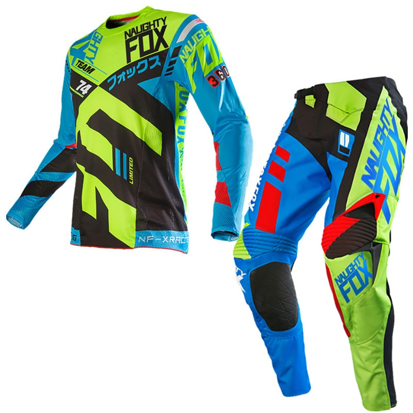 NEW  NAUGHTY FOX MX MTB ATV Motorbike Gear Set 360 Divizion Jersey Pants Combo Motorcycle Suit
