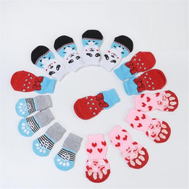 4kom cipele papuče neklizajuće čarape kućne ljubimice slatke - Kućni ljubimci - Foto 3
