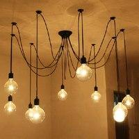 Spider Lamps Vintage pendant light Adjustable DIY Ceiling Spider Pendant Lighting Rustic E27 Retro lamp living room dining room