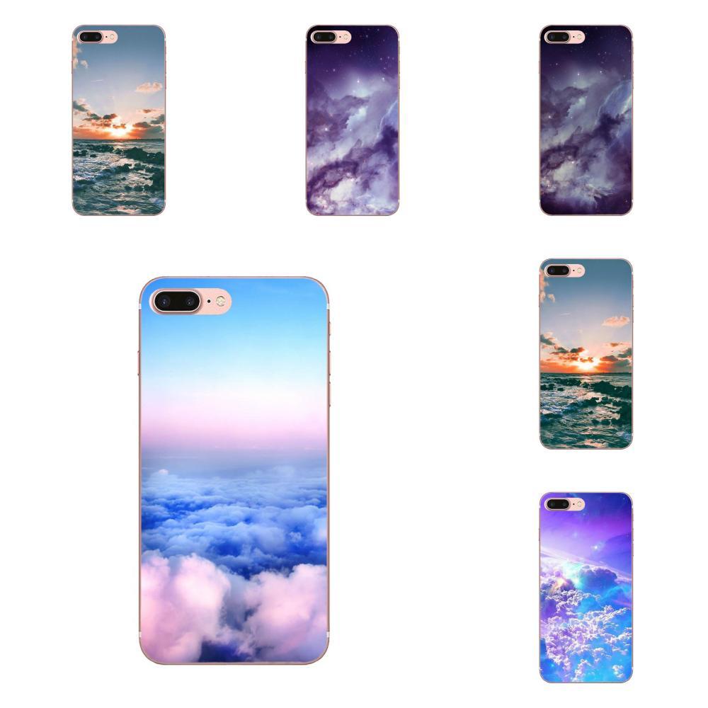 Para Samsung Galaxy Note 5 8 9 S3 S4 S5 S6 S7 S8 S9 S10 mini Plus Lite de dibujo TPU nubes Rt lindo Kawaii cielo espacio
