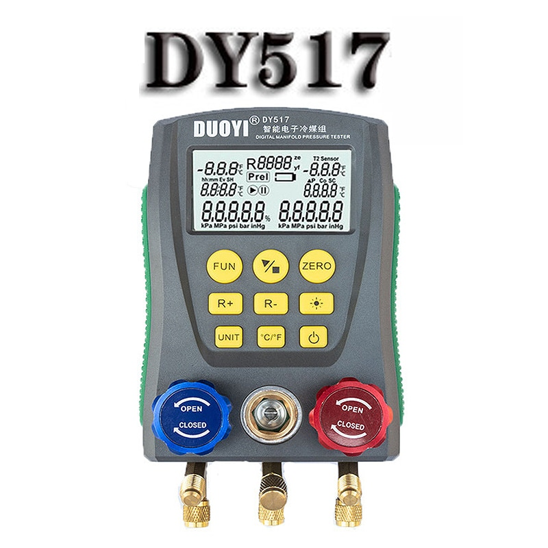 مقياس ضغط التبريد DY517 ، مقياس درجة حرارة الضغط الرقمي للسيارات والمنزل