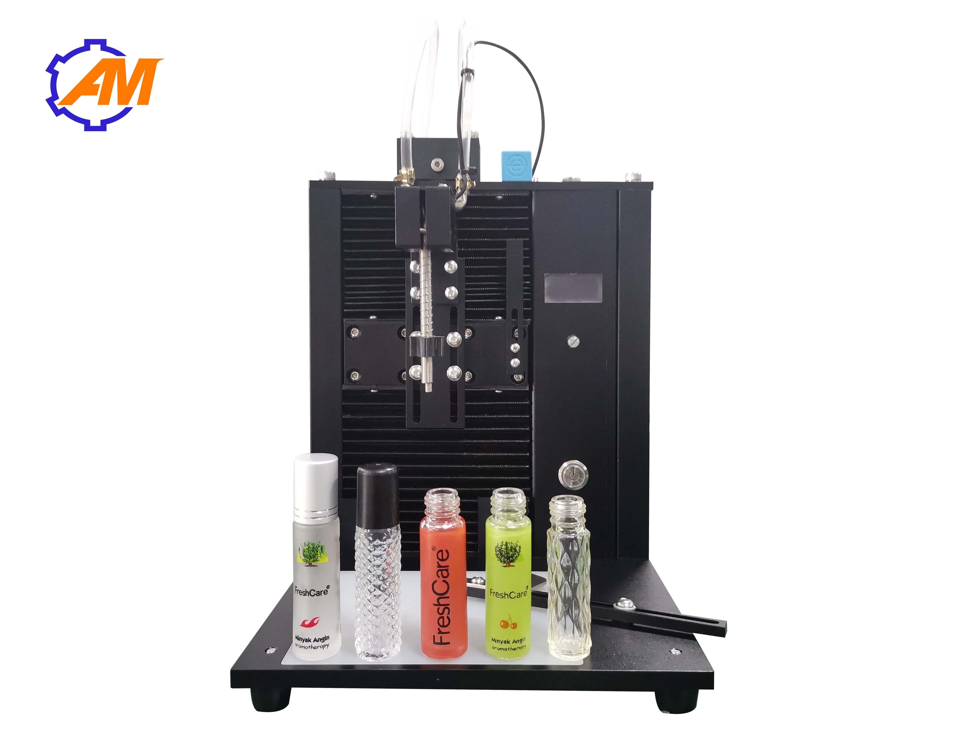 Máquina de llenado de botellas de vidrio btles de plástico de 100ml, relleno de perfume, relleno de emulsión cosmética