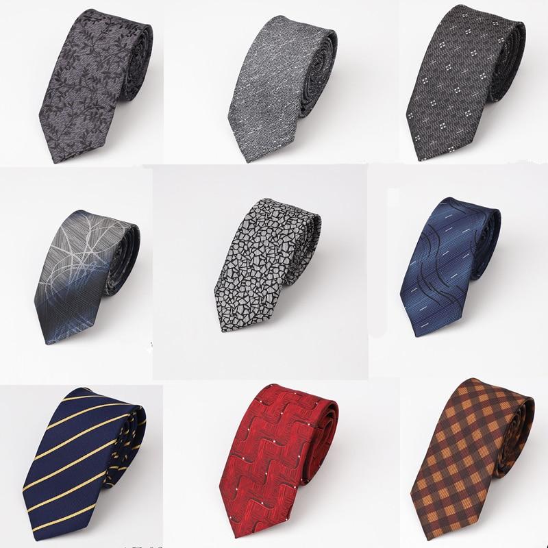 Мода 6,5 см галстук для мужчин тонкий узкий тонкий галстук корейский стиль Свадебная вечеринка Aniversary gravatas para ho мужчины s