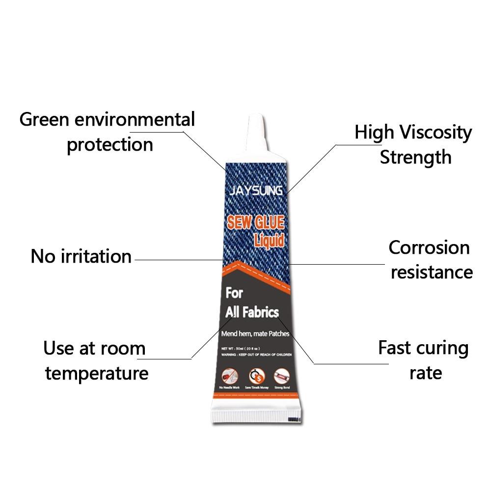 Безопасный стежок очистка безопасный жидкий набор для шитья без пришивания клея