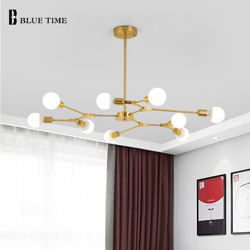 Modern Pendant Light for Dining Room Kitchen Living Room Bedroom LED Hanging Lamp Black&Gold Decoration Nordic Led Pendant Lamp